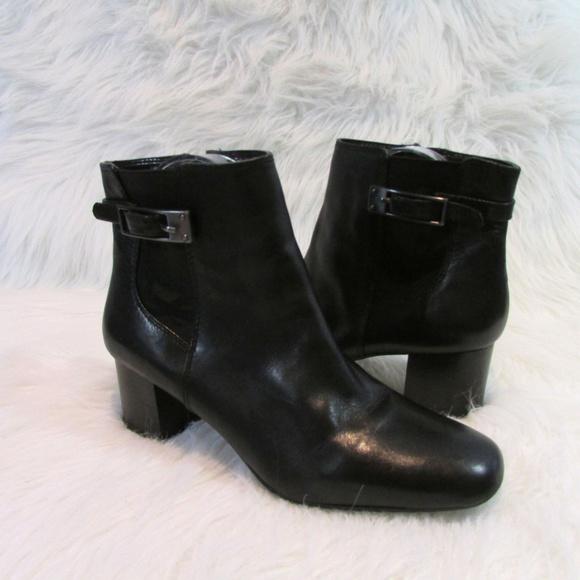 5bc2e9dbc2c3 Bandolino Shoes - Bandolino Lethia Block Heel Booties Black Leather